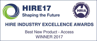 Winner Best New Product - HIRE 2017