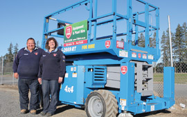 very first Genie® product, a Genie® GS™-2669 RT scissor lift. Servicing a rural community with hobby farmers and local trades, 73 Hire has an excellent range of small farm machinery and general hire equipment.