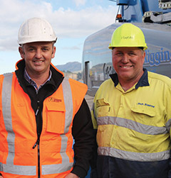 Left: Ed Richardson -   Sales and Marketing Director, YR & Co,  and Owner Murray Rich - Rich Rigging