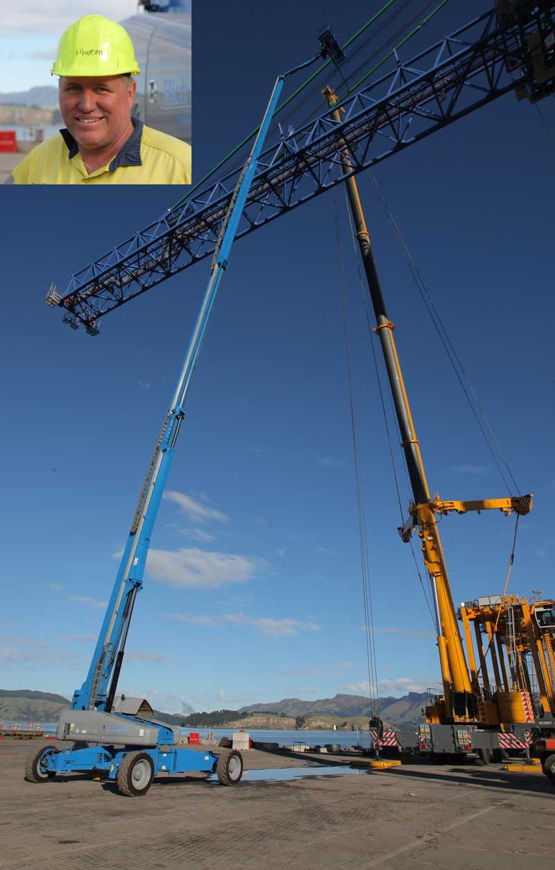 The first Australasian Genie SX-180 boom lift has successfully completed its first job in New Zealand.  It is now due to depart New Zealand and head to Sydney where it will reside with Uphire.