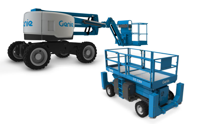 nitially, the new design will be seen on select Genie® telescopic and articulating booms, rough terrain scissors and telehandlers and other products will evolve to the new design over the next two years.
