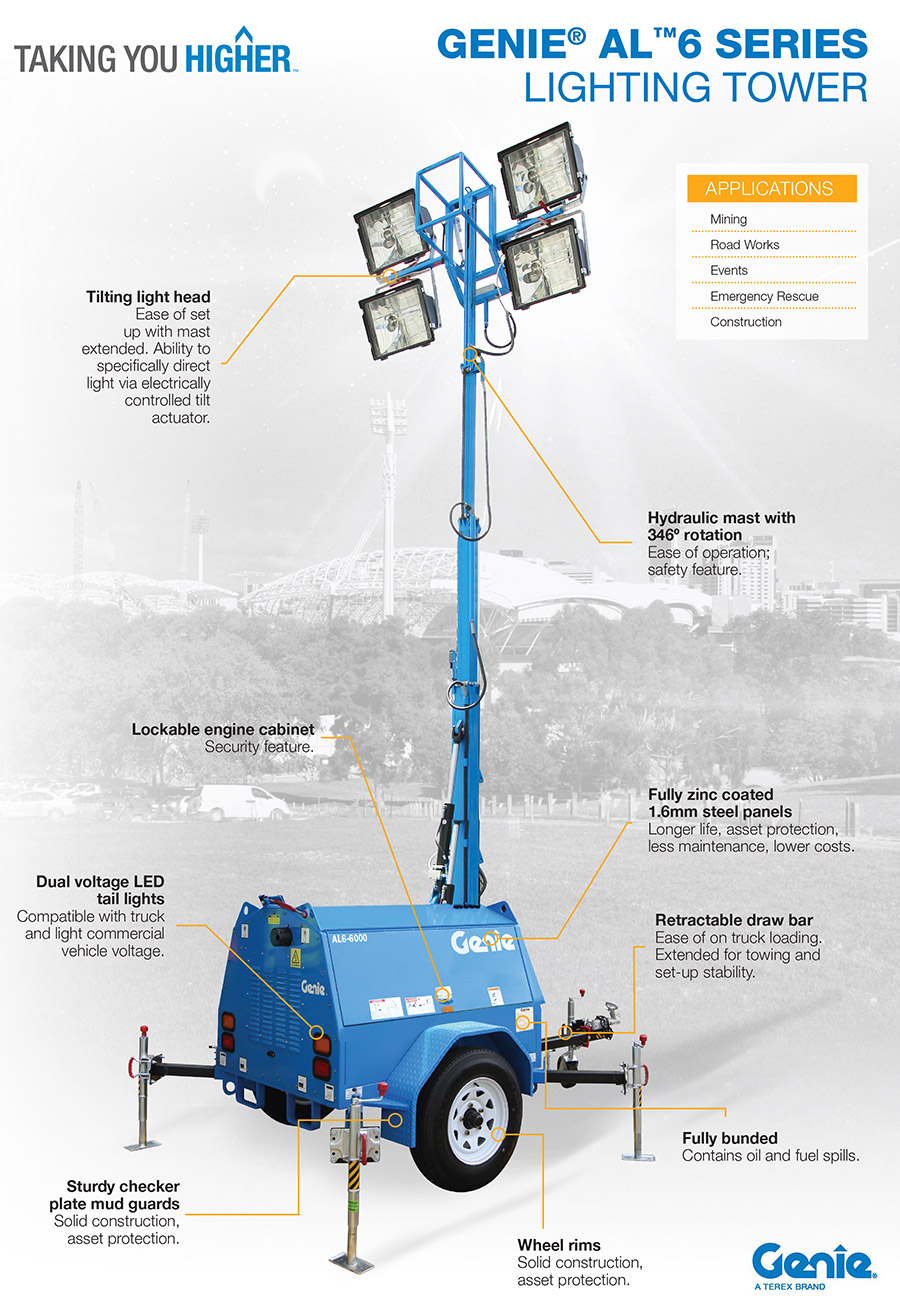 Genie Al6 Series Lighting Tower