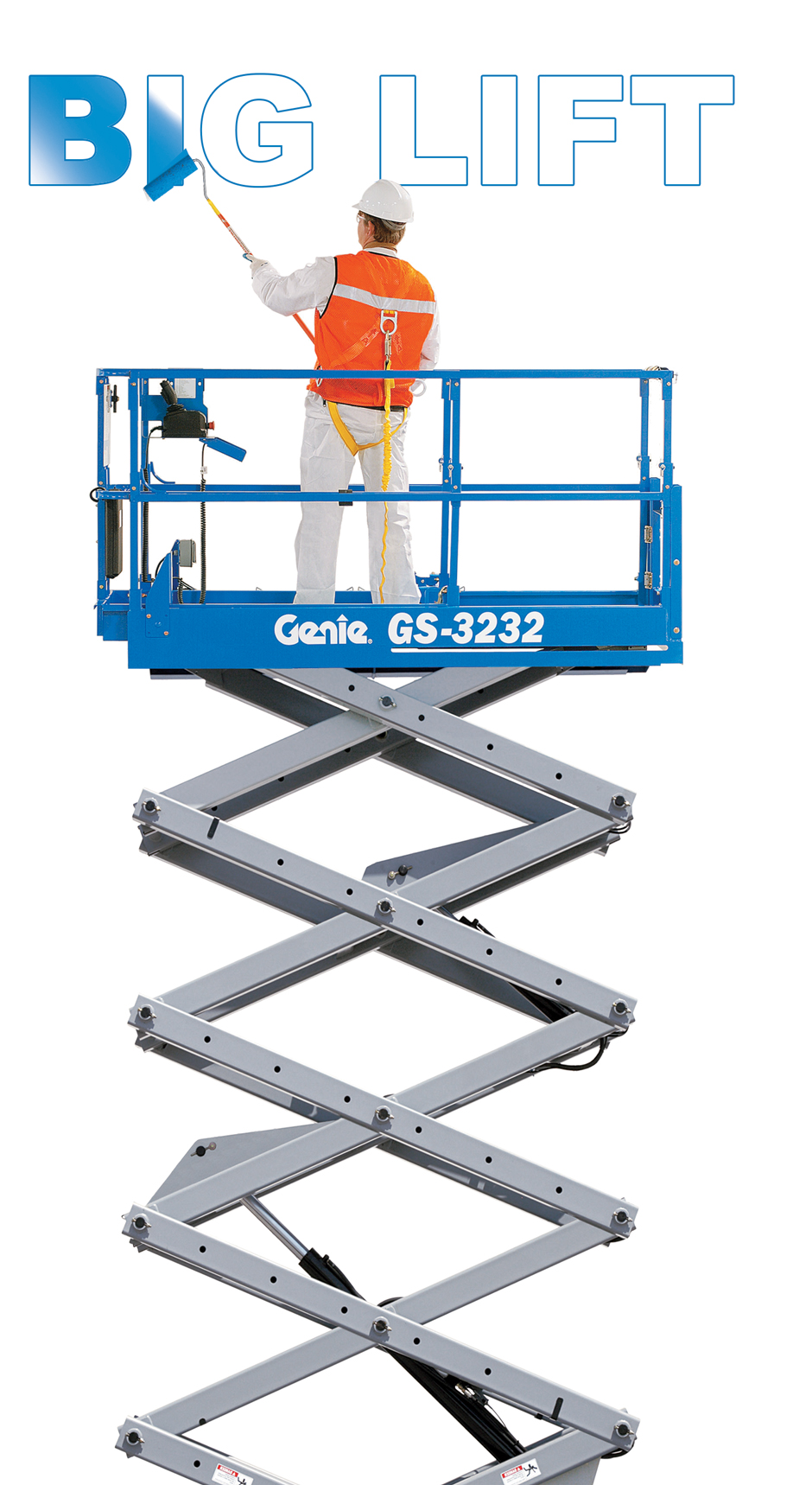 big lift genie gs-3232 scissor lift australia machine industrial construction painting