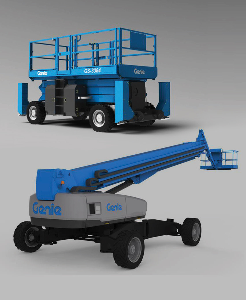 genie new products australia black chassis construction boom lifts