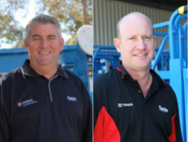 genie announces changes - Mitch Ely, National Operations Manager at Genie Australia : Reg Moss, Quality, Training and Technical Support Manager at Genie Australia.